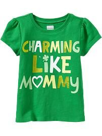 St. Patrick's Day Tees for Baby