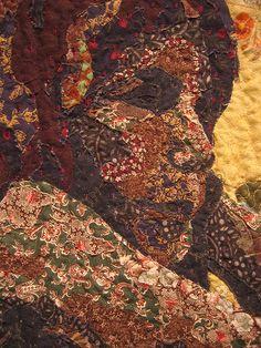 Beautiful portrait art quilt.