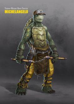 Teenage Mutant Ninja Turtle: Michelangelo - by Ancorgil   #comics #tmnt