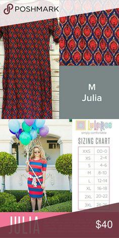 Lularoe leggings material julia Medium julia, beautiful colors and super soft legging material, never been worn. Dresses
