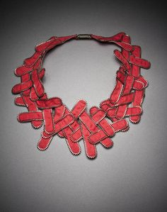 """Kate Cusack: 'Archaea;, 8.5""""x 9""""x .0125"""", Zippers, 2012"""