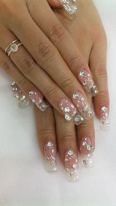 Clear nails with Bling #nail art why does this re - http://yournailart.com/clear-nails-with-bling-nail-art-why-does-this-re/ - #nails #nail_art #nails_design #nail_ ideas #nail_polish #ideas #beauty #cute #love