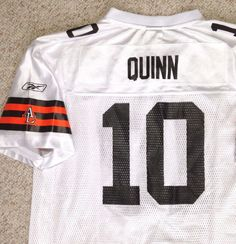 398c722044fba8 YOUTH XL 16-18 (can fit sm adult too) CLEVELAND BROWNS BRADY QUINN#10  JERSEY vtg #Reebok #ClevelandBrowns
