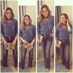 """""""Hoje o look é  total jeans (ou double denim), produção que usa o jeans tanto na parte de cima quanto na parte de baixo. Essa tendência, marcante nos…"""""""