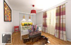 Nowoczesna sypialnia w stylu wiejskim, sypialnia w stylu country