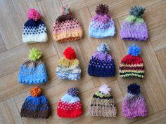 Lot de 12 chapeaux miniatures décorations de Noël, Pâques, pour la maison : Accessoires de maison par leatricote