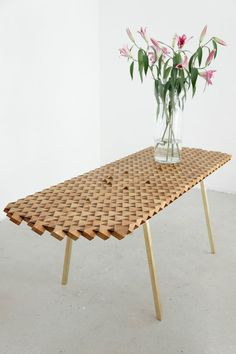 Inspired by the Atlas Mountains this solid oak hand crafted table uses a revolutionary new technique to make the most of a precious tree, painstakingly bonding chunky blocks of wood and planing the surface at a 45 degree angle to reveal an amazing surface.