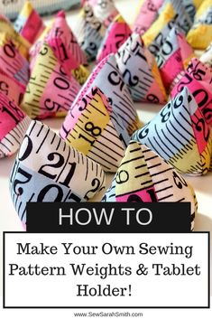 The Weight is Over : Crafting Sewing Pattern Weights & an iPad Holder! - Everything About Technology 2019 Sewing Hacks, Sewing Tutorials, Sewing Crafts, Sewing Tips, Sewing Ideas, Craft Patterns, Sewing Patterns, Ipad Holder, Tablet Holder