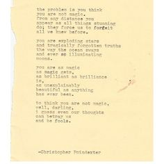 The Universe and Her, and I poem #214 written by Christopher Poindexter