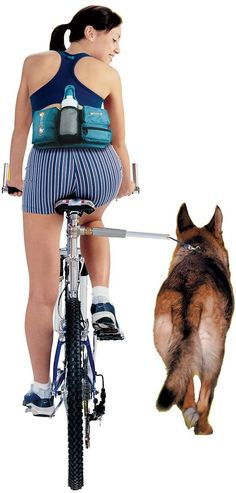 Bring your favorite exercise partner along for a leisurely ride with the Walky Dog Plus Bicycle Exercise Dog Leash. Offering a safe way for you to ride your bike and walk your dog at the same time, this design works with a stainless steel wand that easily installs on your bike. Inside the wand is a super-strong leash that attaches to your dog's collar or harness, keeping him at the perfect distance by your side. The internal shock-absorbing system prevents him from pulling you off the bike…