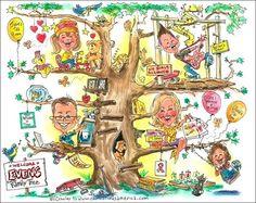 Funny family tree Artist Bill Crowley