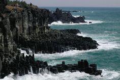 Jejudo (Chejudo Island) - the Hawaii of South Korea. Beautiful island, we had a wonderful visit. And I still have my Dolharubang (Stone Grandfather)!