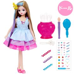 Takara Tomy Licca Kirachen Shiny Hair Sakura Fashion Doll