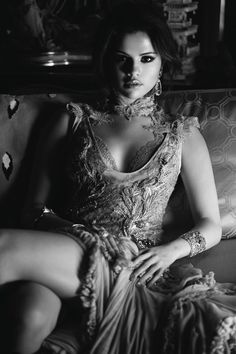 Selena Gomez #bw black and white photography