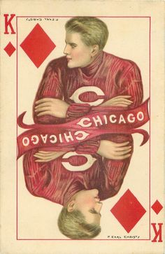 """""""Chicago"""" ~ 1910 Postcard illustrated by F. Earl Christy, College Kings series."""
