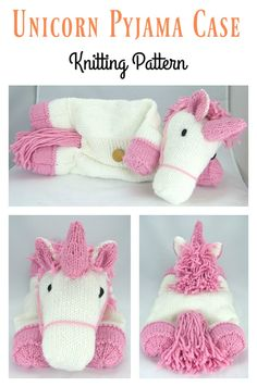 Unicorn Pyjama Case Knitting Pattern