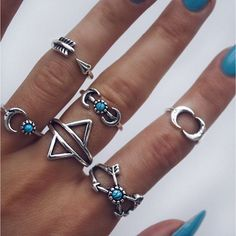 Instagram media indigo_lune - Our new Warrior Ring Set consists of 6 rings for just £14 SHOP | www.INDIGOLUNE.com