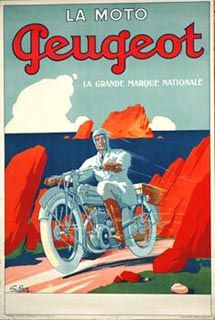 Motocycles Comiot 1899 French Vintage Advertising Giclee Canvas Print 20x28