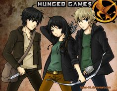 the hunger games | katniss peeta and gale the hunger games by ichan 01
