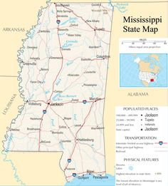 Love This Vintage S Mississippi Map Home Sweet Home Pinterest - Mississippi state map usa