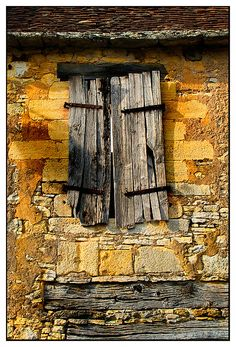 Very Old window shutters found in St Orse, Dordogne, France