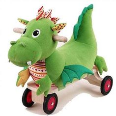 Puffy Dragon Ride on Toy