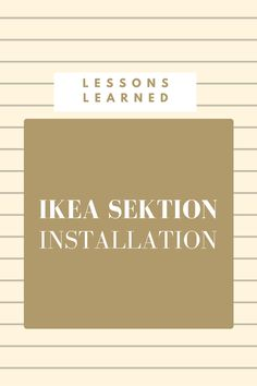 all things IKEA SEKTION cabinets a collection of our best advice from kitchen renovation experience. Kitchen Wall Art, New Kitchen, Kitchen Reno, Kitchen Ideas, Kitchen Remodeling, Kitchen Design, Kitchen Stuff, Kitchen Inspiration, Kitchen Tips