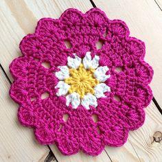 """8 petal #heart #doily or #crochetcoaster #crochetflower #valentinesday #crochet #crochetheart #handmadebyme #lovetocrochet #heartdoily"""