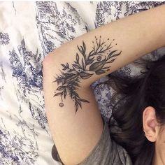 INK tattoo flower pretty boho female hippie floral