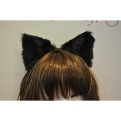 Black and white tip Fox ears CAT ears MOVABLE ears HEADBAND inner... ($17) ❤ liked on Polyvore featuring accessories, hair accessories, head wrap headband, hair band headband, head wrap hair accessories, hair bands accessories and cat ears headband