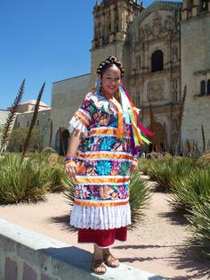 traje tipico de tuxtepec oaxaca - flor de piña
