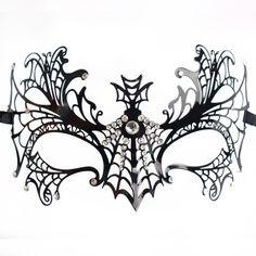 Máscara Tela de Araña Brillantes