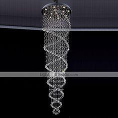 LED Crystal Chandeliers Lighting 13 Lights Modern Silver Canpoy Transparent K9 Crystal Fixtures 2015 – $910.99