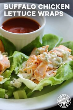 Enjoy all of the flavor and none of the guilt, with our Buffalo Chicken Lettuce Wraps.