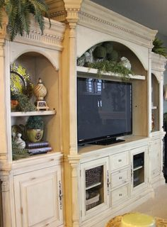 Parker House Westminster Entertainment Center 5pc Wall Unit in Vintage Cream Finish SKU: PH-WES600-5WS Tuscan inspired home tour in the Pacific Northwest - Debbiedoo's