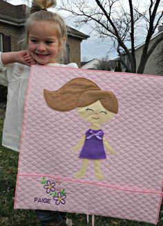 Wool Felt Paper Doll Blanket with Five Darling Outfits by gibbitygabbity on Etsy