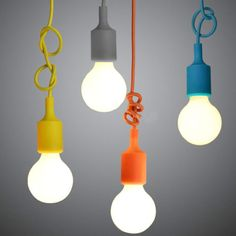 Vintage-Colorful-Silicone-Pendant-Light-Chandelier-Ceiling-lamp-with-bulb
