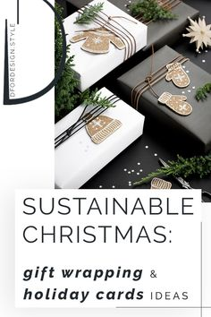 Come get inspired with some gift wrappings & holiday card designs that easy to make, festive and sustainable at the same time! #SustainableChristmasWrapping #SustainableChristmas #SustainableChristmasIdeas