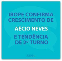 Aécio Neves é tendência de 2º turno. #Eleições2014