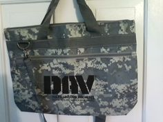 Disabled American Veterans DAV camouflage tote shopping beach shoulder bag NWOT $25.00.