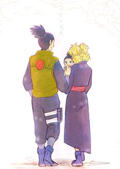shikatema ihope I can see how shiKAMARU PLAY WITH little shikadai