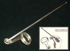 Finger-Rotated Dental Drill (1870s) This unusual six-inch-long drill was attached to a thimble that held it in place while the spindle was rotated by the dentist's finger at a rate much slower than other dental drills of the era, which used bow action, hand cranks, foot pedals and ultimately, electricity