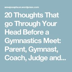 20 Thoughts That go