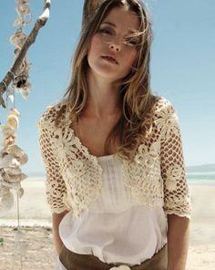 Modelos de Coletes em Crochê: Fotos, Cores, Pontos, Moda, Combinações