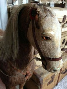 Rocking Horse Toy, Wooden Horse, Antique Toys, The Chic, French Antiques, Old Things, Shabby Chic, Animals, Facebook