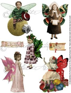 Shop for on Etsy, the place to express your creativity through the buying and selling of handmade and vintage goods. Christmas Fairy, Vintage Christmas, Christmas Ideas, Christmas Stuff, Christmas Cards, Michelangelo, Printable Christmas Ornaments, Collage Sheet, Collage Art
