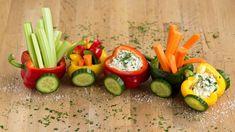 Gemüse-Zug für kleine Abenteurer ✔️ Gemüse mit Spaß snacken ✔️ Klindgerechte Dekoration macht Lust auf mehr ✔️ Zum Tipp ➡️ meinheimvorteil