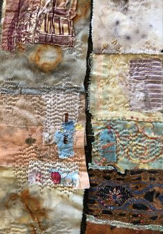 Hand Embroidery Stitches, Hand Stitching, Vintage Fabrics, Textile Art, Hand Sewing, Bohemian Rug, Ann, Textiles, Rugs