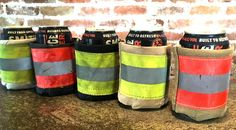 Beverage Jacket  Recycled Firefighter Gear by rekindledpride