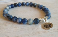 Holy Moly These Are STUNNING!!  African Blue Kyanite Beaded Stretch Bracelet Hill by LoveandLulu, $52.00